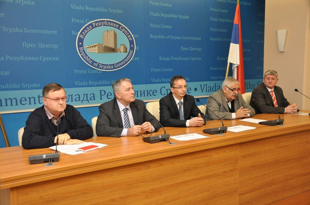 Oдржана прес конференција у  просторијама Прес центра Владе Републике Српске