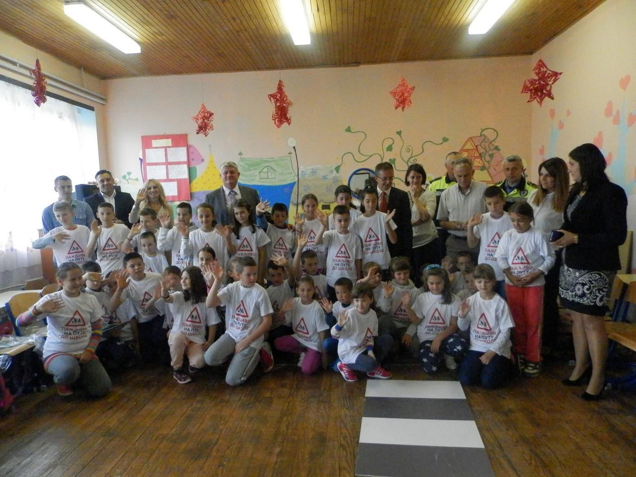 У Мркоњић Граду одржано предавање за дјецу о саобраћају