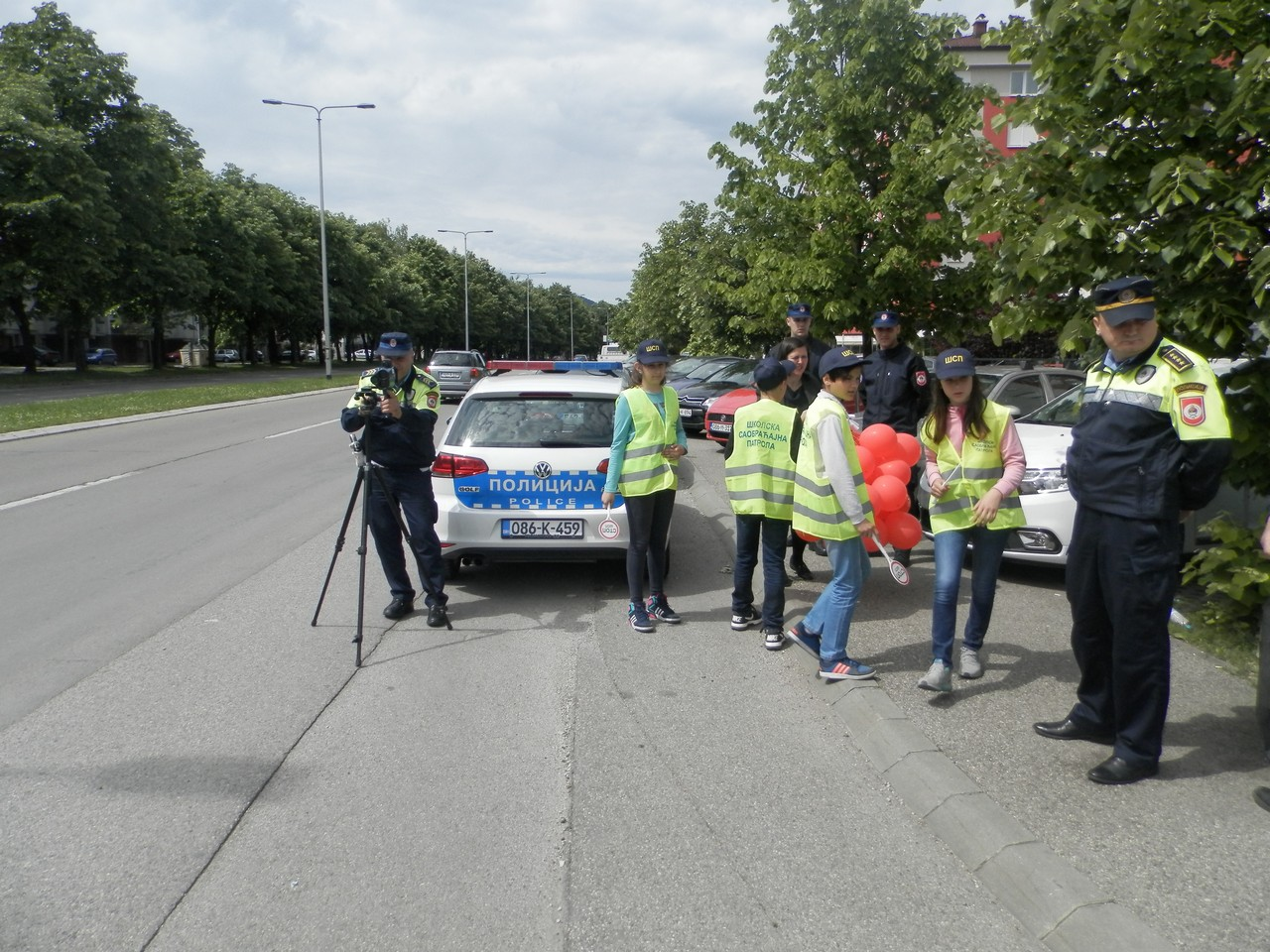 На Булевару Десанке Максимовић данас уз присуство школараца контролисана брзина кретања возила